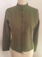 Talbots Olive Green Lightweight Unlined Wool Jacket Size M