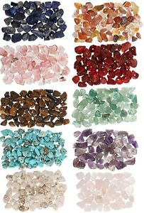 NATURAL GEMSTONE CHIP BEADS 5-8mm,240+ beads,32-34 inches long