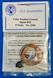 O Scale - N. J. INTERNATIONAL 3294 - COLOR POSITION GROUND Signal R/H - LED