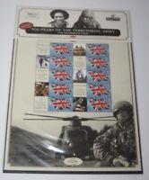 2008 Royal Mail Commemorative Smilers Sheet CS1 - 100 Years of Territorial Army