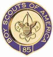 BOY SCOUTS OF AMERICA BSA OFFICIAL 85 YEAR VETERAN PIN OA JAMBOREE CAMP TRADING