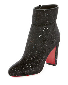 100% AUTH NEW WOMEN LOUBOUTIN MOULAMAX 85 VELVET GALACTICA BOOTY/BOOTS US 9