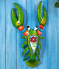 Tropical Wall Hanging Front Porch Decor Sunroom Fence Indoor Outdoor Lobster