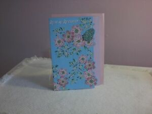 For Arts Sake - Get Well - Pretty pink flowers on a blue background on cover