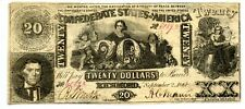 1861   $20        Confederate  Currency  T-20