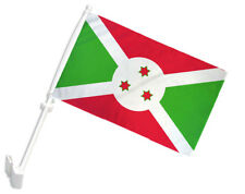 "(2 Pack) Burundi Car Window Vehicle 12x18 12""x18"" Flag"