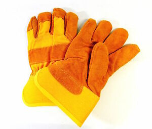 Men's & Women's  Insulated Work Chore Winter Leather Gloves
