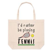 I'D más bien Be Playing Tenis Grande Playa Bolsa - Divertido Shopper Hombro