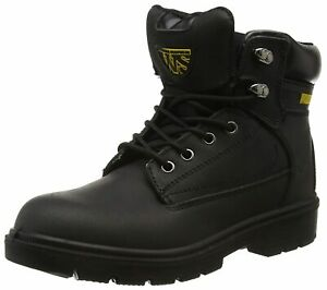 New Boxed Safety Work Boots Steel Toe Cap Midsole Black Worksite SS618SM