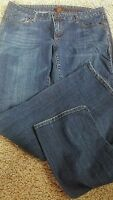 Women's Aeropostale Skinny Dark Wash Stretch Blue Jeans Size 11/12 R