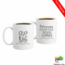 Crap Bag Couples Funny Coffee Mug Set Unique Gift For Boyfriend and Girlfriend