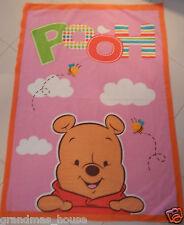 Winnie The Pooh - Pink Polar Fleece Blanket - Large Size!!  Beautiful Gift Idea