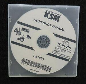 "GENUINE KUBOTA M5-091 M5-111 TRACTOR ""LA1854 FRONT LOADER"" SERVICE MANUAL ON CD"