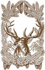 Vintage print poster stag elk deer large art for glass frame 90cm