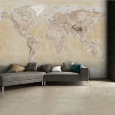 1 Wall Neutral World Map Atlas Wallpaper Mural Wall Art 315cm x 232cm