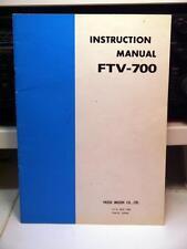 Yaesu FTV-700 Instruction Manual