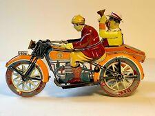 Vintage Paya Tin Windup Motorcycle and Sidecar