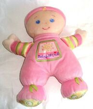 """Fisher Price Baby'S 1st First Doll Brilliant Basics Pink 11"""" 27cm Rare"""
