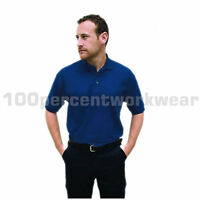 Warrior Polycotton Mens Work Short Sleeve Polo Shirt with Collar + Ribbed Cuffs