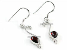 Drop/Dangle Natural Stone Sterling Silver Fine Earrings