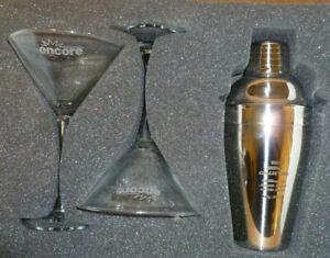James Bond Collection Martini Set Glasses Shaker Encore Promo Items