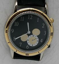 Disney Watch Unique Seconds Hand in Mickey Mouse Silhouette Two Tone Watch NIT