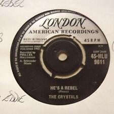 """The Crystals(7"""" Vinyl)He's A Rebel / I Love You Eddie-London-HLU 9611-U-Ex/VG+"""