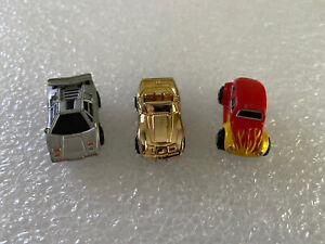 vintage MICRO MACHINES LOT/3 RARE GOLD Corvette mail away Silver Lamborghini VW