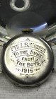 Original WWI Dated 1916 British Army TRENCH WATCH Silver Engraved PTE. LS Weston