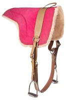 Suede Bareback Pad Trail Beautiful Fleece Pink Horse Blanket Saddle Tack Used