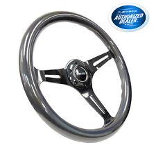 NRG 350mm Steering Wheel Classic Chameleon Wood Grain Black Spoke ST-015BC-CN