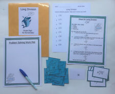 Teacher Made Math Center Learning Resource Game Long Division w/o Regrouping