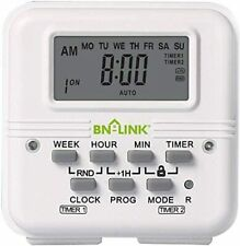 Bn-Link 7 Day Heavy Duty Digital independent Programmable Timer Dual two Outlet