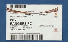 Orig.Ticket  Europa League  2010/11  PSV EINDHOVEN - GLASGOW RANGERS  1/8 FINALE