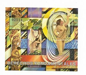 COLOMBIA 1993 FRENCH DECLARATION OF HUMAN RIGHTS HISTORY ART SOUVENIR SHEET