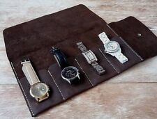 Leather watch roll, Travel watch roll, Watch storage, Leather watch case, roll