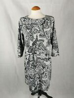 Ladies Dress Size 16 PER UNA Grey Butterfly Tunic Smart Casual Day Party