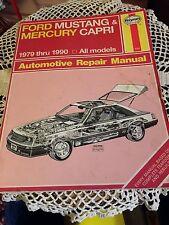 REPAIR MANUAL HAYNES FORD MUSTANG-MERCURY CAPRI 1979-1990 ALL MODELS