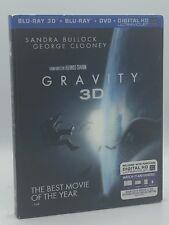 Gravity 3D (Blu-ray 3D+Blu-ray+DVD+Digital HD, 2014) NEW w/ Lenticular Slipcover