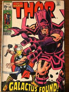 Thor #168 Galactus Origin 1969 VG