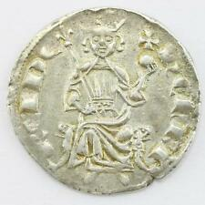 Crusader States Lusignan Kingdom of Cyprus Henry II 1285-1324 Silver Gros