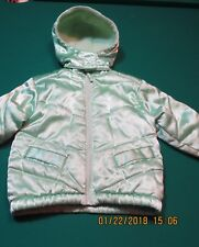 Sesame Street Toddler Girls Jacket Coat Winter Removable Hood Green 2 T Shiny