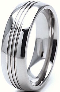 New 8mm Mens Tungsten Everyday Wedding Engagement Band Comfort Fit Ring