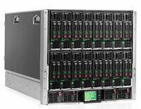 HPE ProLiant C7000 G2 + 16x BL460c G8 Blades 2x CPU 16x DIMM Slots 2x HDD Bay