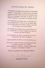 RIMBAUD Tirage 281 ex. Exemplaire d'artiste signé LYDIS – Illuminations 1962