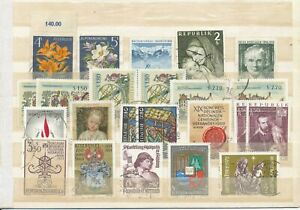 Austria / One plug-in card of Stamps from the Year 1966 up to 1972