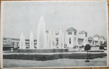 Hold-To-Light 1930 Liege Exposition Postcard: King & Queen, Luminous Fountain