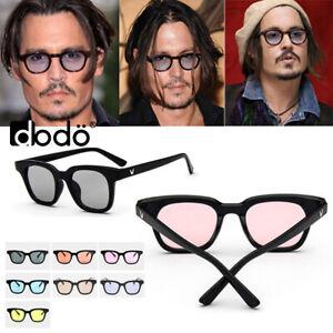 Tinted Lens Retro Vintage Unisex Designers Johnny Depp Blue Tint Sunglasses