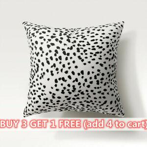 WHITE & BLACK SPOT POLKA DOT CUSHION COVER Dalmatian Print Room Decor 45 X 45cm