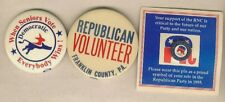 (9) US Republican & Democratic Party Presidential Campaign Buttons & Pins